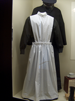 Harvey Girl uniform in display case