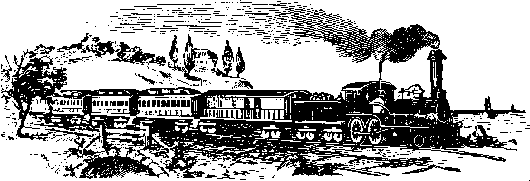 Old passenger train drawing
